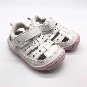 Surprize by Stride Rite White/Pink Baby 4 Sandals